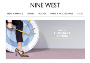 Image of Nine West ad featuring Starter Husband Hunting campaign
